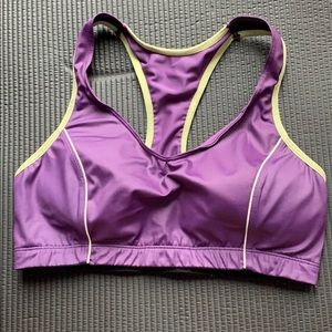 Purple/Yellow Moving Comfort Sports Bra